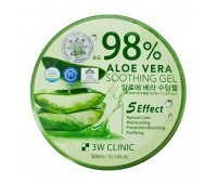 Гель для тела Aloe Vera Soothing Gel 98% 3W CLINIC, 300 гр