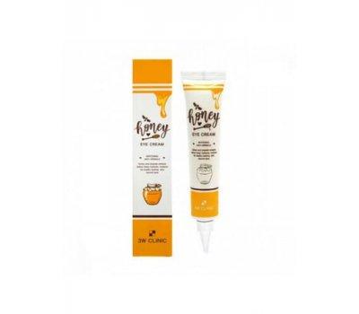 Крем для области вокруг глаз с экстрактом меда Honey Eye Cream Anti Wrinkle 3W CLINIC, 40 мл