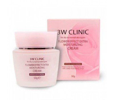 Увлажняющий крем для лица Flower Effect Moisture Cream 3W CLINIC, 50 мл