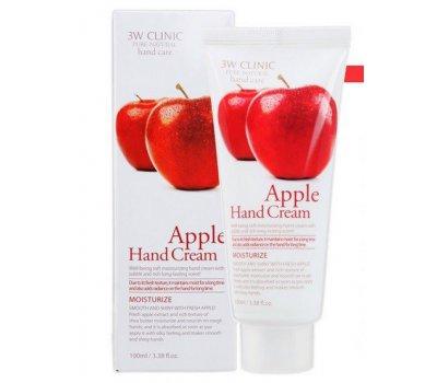 Увлажняющий крем для рук с экстрактом яблока Apple Hand Cream 3W CLINIC, 100 мл