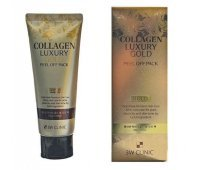 Маска-пленка для лица с коллагеном и золотом Collagen&Luxury Gold Peel Off Pack 3W CLINIC, 100 мл