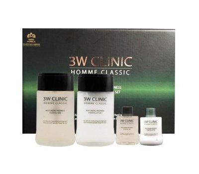 Набор для ухода за мужской кожей увлажнение и свежесть Homme Classic Moisturizing Freshnes, 3W CLINIC