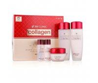Набор из 3 средств c функцией интенсивной регенерации для кожи, потерявшей упругость (тоник, эмульсия, крем) Collagen Skin Care 3 Kit Set, 3W CLINIC