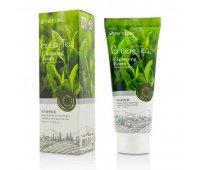 Пенка для умывания натуральная Green Tea Foam Cleansing 3W CLINIC, 100 мл