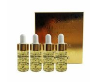 Сыворотка для лица с коллагеном и золотом 3W CLINIC Collagen & Luxury Gold Anti-Wrinkle Ampoule, 4шт*13мл