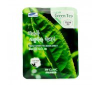 Маска для лица с экстрактом зеленого чая Fresh Green Tea Mask Sheet 3W CLINIC