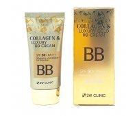 Тональный BB крем для лица BB Collagen Luxury Gold Cream 3W CLINIC, 100 мл