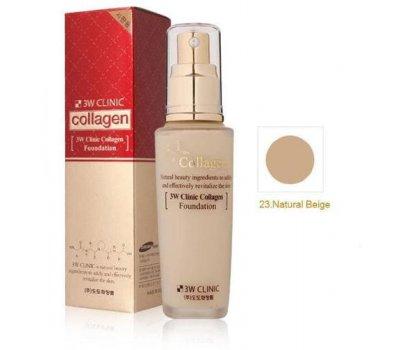 Тональный крем с коллагеном Collagen Foundation 3W CLINIC, 50 мл