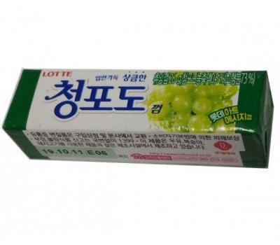 Жевательная резинка со вкусом зеленого винограда Green Grape LOTTE, 26 гр