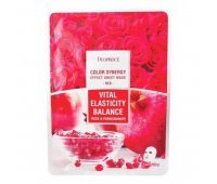 Тканевая маска для лица с розой и гранатом Deoproce Color Synergy Effect Sheet Mask Red