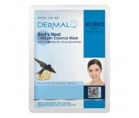 Тканевая маска для лица с ласточкином гнездом и коллагеном Bird's Nest Collagen DERMAL, 23 гр