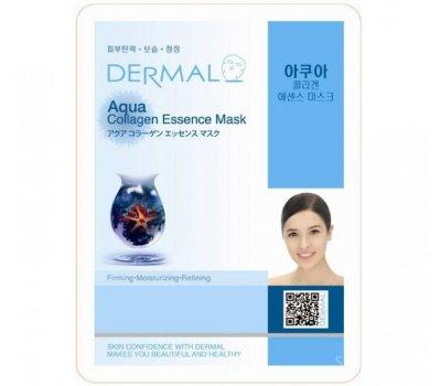 DERMAL Aqua Collagen Essence Mask Тканевая маска для лица с морской водой и коллагеном, 23 гр