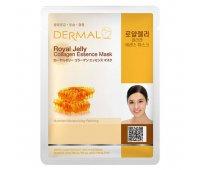 Тканевая маска для лица DERMAL Royal Jelly Collagen Essence Mask, 23 гр