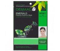 Тканевая маска для лица DERMAL Emerald Healing Essence Mask, 28 гр