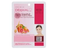Тканевая маска для лица DERMAL Honey Grapefruit Collagen Essence Mask, 23 гр