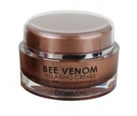 Крем для лица коллагеновый с ПЧЕЛИНЫМ ЯДОМ Bee Venom Relaxing Cream, 50 мл, Dermal