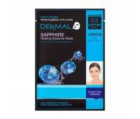 Тканевая маска для лица DERMAL Sapphire Healing Essence Mask, 28 гр