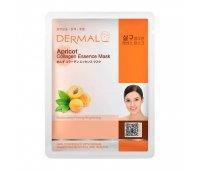 Тканевая маска для лица DERMAL Apricot Collagen Essence Mask, 23 гр