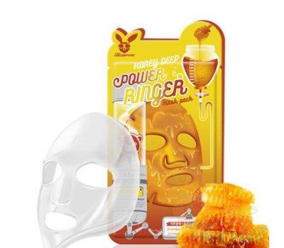 Тканевая маска для лица с экстрактом меда Honey Deep Power Ringer Mask Pack Elizavecca