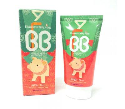 Увлажняющий ББ крем с гиалуроновой кислотой для лица Milky Piggy BB Cream SPF50 Elizavecca, 50 мл