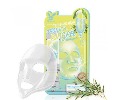 Тканевая маска для лица с экстрактом чайного дерева Tea Tree Deep Power Ringer Mask Pack Elizavecca
