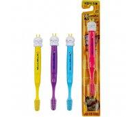 """EQ Зубная щетка """"MashiMaro Kids"""" для детей от 5 лет со сверхтонкими щетинками двойной высоты и анатомической ручкой (мягкая), 1 шт"""