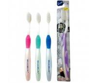 """EQ Зубная щетка """"MashiMaro"""" со сверхтонкими щетинками двойной высоты и анатомической ручкой (с ионами серебра, средней жесткости), 1 шт"""