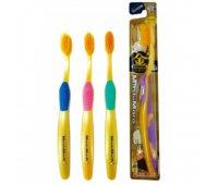 """EQ Зубная щетка """"MashiMaro"""" со сверхтонкими щетинками двойной высоты и анатомической ручкой (с ионами золота, средней жесткости), 1 шт"""