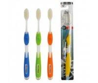 """EQ Зубная щетка """"NANO"""" со сверхтонкими щетинками двойной высоты и инновационной ручкой (с ионами серебра, средней жесткости), 1 шт"""