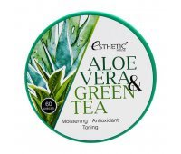 Гидрогелевые патчи для глаз Aloe Vera Green Tea Hydrogel Eye Patch ESTHETIC HOUSE
