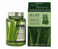 Ампульная сыворотка с экстрактом алоэ Farm Stay Aloe All In One Ampoule, 250 мл
