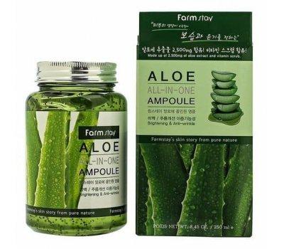 Farm Stay Aloe All In One Ampoule Многофункциональная ампульная сыворотка с экстрактом алоэ, 250 мл