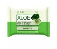 Салфетки для снятие макияжа Farm Stay Aloe Moisture Soothing Cleansing Tissue, 120 мл