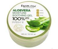 Многофункциональный гель с экстрактом алоэ Farm Stay Aloe Vera Moisture Soothing Gel 100%, 300 мл