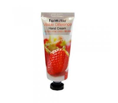 Farm Stay Visible Difference Hand Cream Strawberry Увлажняющий крем для рук с экстрактом клубники, 100 мл