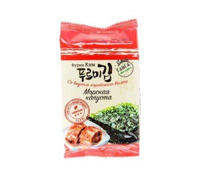Корейская хрустящая сушеная морская капуста со вкусом корейского Кимчи Furmi Kim