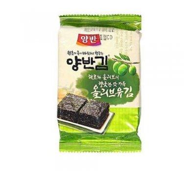 Корейская хрустящая сушеная морская капуста со вкусом оливкового масла Furmi Kim
