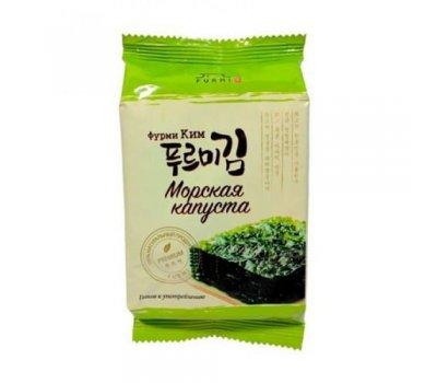 Корейская хрустящая сушеная морская капуста со вкусом васаби Furmi Kim