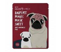 Тканевая маска-мордочка Holika Holika Baby Pet Magic Mask Sheet Anti-wrinkle Pug, 22 мл