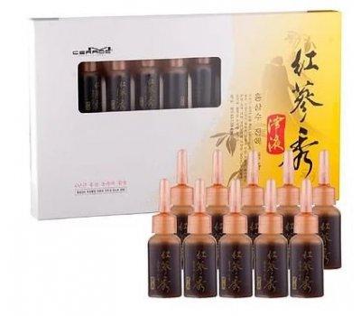 Лечебные ампулы на основе женьшеня M-Cerade Red Ginseng Extract Ampule (10 мл*10), INCUS