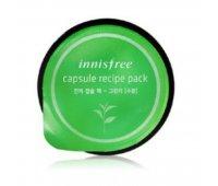 Маска для лица с экстрактом зеленого чая Innisfree Capsule Recipe Pack Green Tea, 10 мл