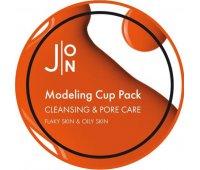 Альгинатная маска с экстрактами древесного угля и соевых бобов Cleansing & Pore Care Modeling Cup Pack J:ON