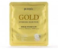 Маска для лица с золотом Gold Hydrogel Mask Pack PETITFEE