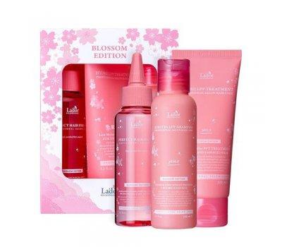 Lador SET Blossom Edition Perfect Hair Fill-UP 100 мл, Keratin LPP Shampoo 100 мл, Hydro LPP 100мл Набор средств для волос