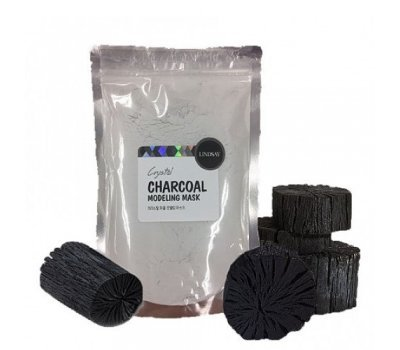 Альгинатная маска с углем Charcoal Modeling Mask Pack Lindsay, 240 гр +ложка-лопатка
