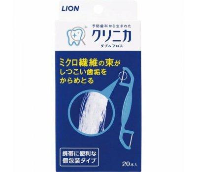 """Lion Двойная зубная нить """"Clinica"""" для чистки межзубного пространства, 20 шт"""