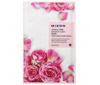 Тканевая маска для лица с экстрактом лепестков розы Joyful Time Essence Mask Rose MIZON