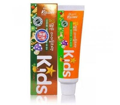 Детская гелевая зубная паста с ярким тропическим вкусом Mukunghwa Kizcare Kids с 2х лет, 75 гр