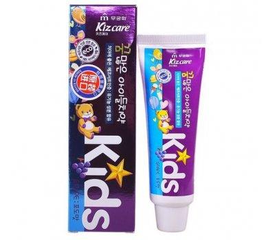 Детская гелевая зубная паста с ярким вкусом винограда Mukunghwa Kizcare Kids Grape с 2х лет, 75 гр