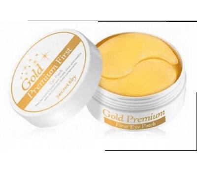 Secret Key Gold Premium First Eye Patch Гидрогелевые Патчи для глаз с золотом